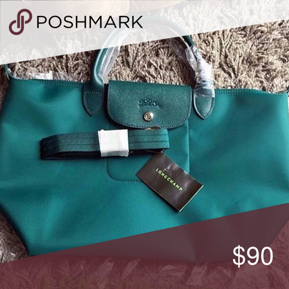LONGCHAMP Emerald Green NEO Le Pliage MED or SML Brand new with tags, authentic. Limited supply. Longchamp Bags