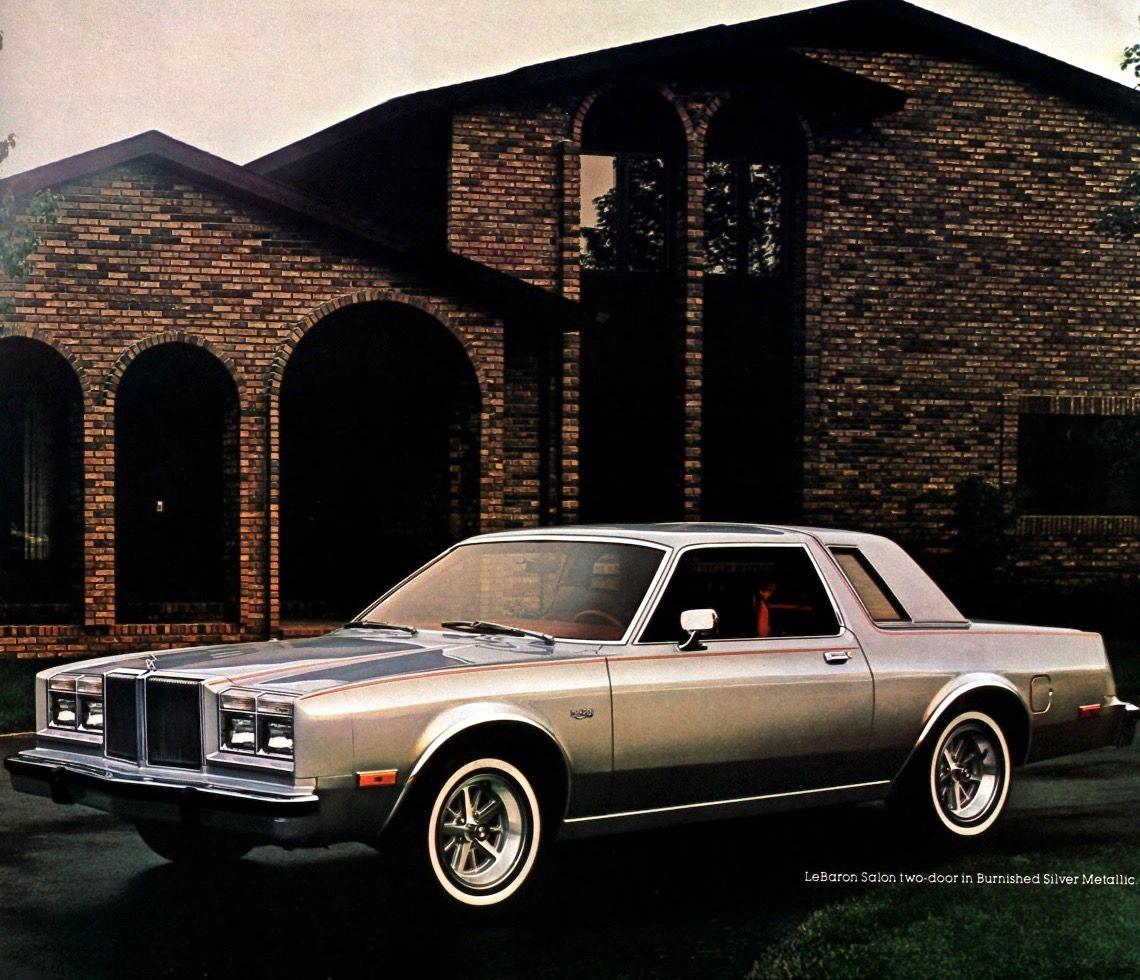 1981 Chrysler Lebaron Salon Coupe Chrysler Lebaron Chrysler Coupe