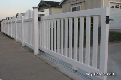 Our Gates Vinyl Driveway Gates Vinyl Concepts Com Backyard Gates Gate Design Fence Gate