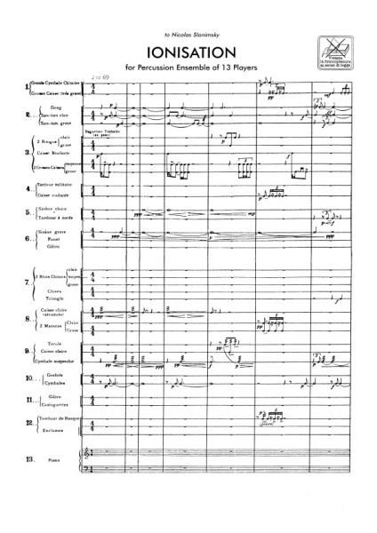 Varese's Ionisation.  Wow.  Like Stravinsky's Rite of Spring, this too came from another world.