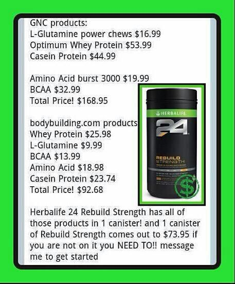 There will always be someone better, faster, stronger. Be that someone. WITH HERBALIFE24! H24 products are sold exclusively through Herbalife Independent Distributors This is a GREAT OPPORTUNITY for YOU! MAXIMIZE YOUR POTENTIAL!  Become a H24 Distributor! CONTACT ME NOW! Blanca, INDEPENDENT HERBALIFE DISTRIBUTOR  (520)560-7914 https://www.goherbalife.comblancah
