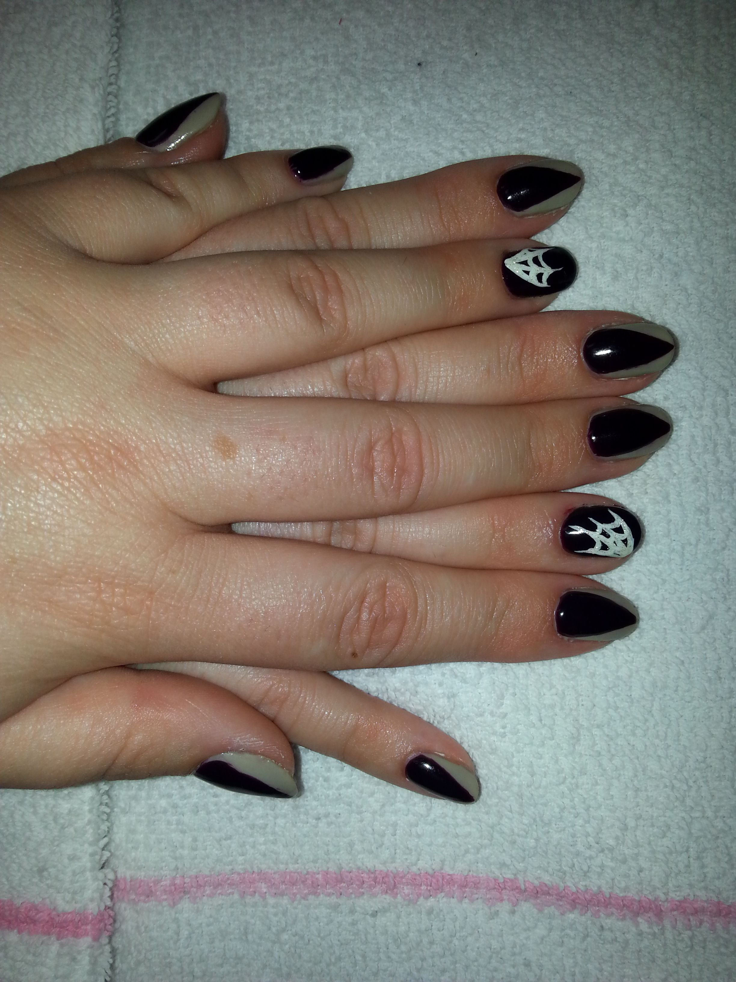 Halloween Nails - claws and spiderwebs | Halloween nails ...