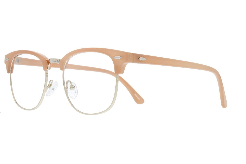 461d74ef96101 Zenni Retro Browline Prescription Eyeglasses Cream Tortoiseshell ...