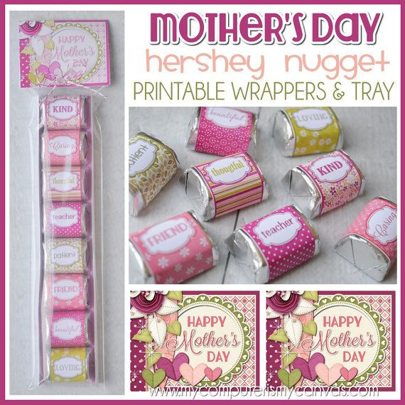 Nugget Gift Ideas Apparel: MOTHER'S DAY Chocolate Nugget Wrappers, Treat For MOM
