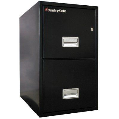 SentrySafe 2 Hr Fireproof Key Lock 2 Drawer Letter File Safe - hr letter