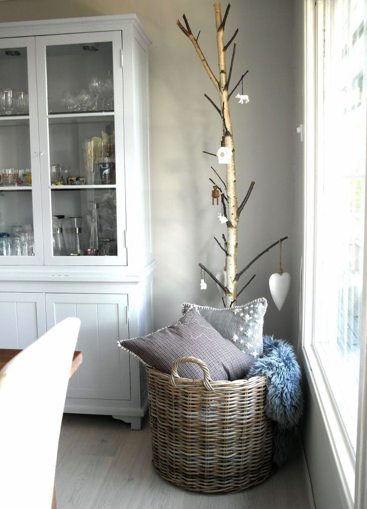 Keep a decorative basket in your living room for blankets ...
