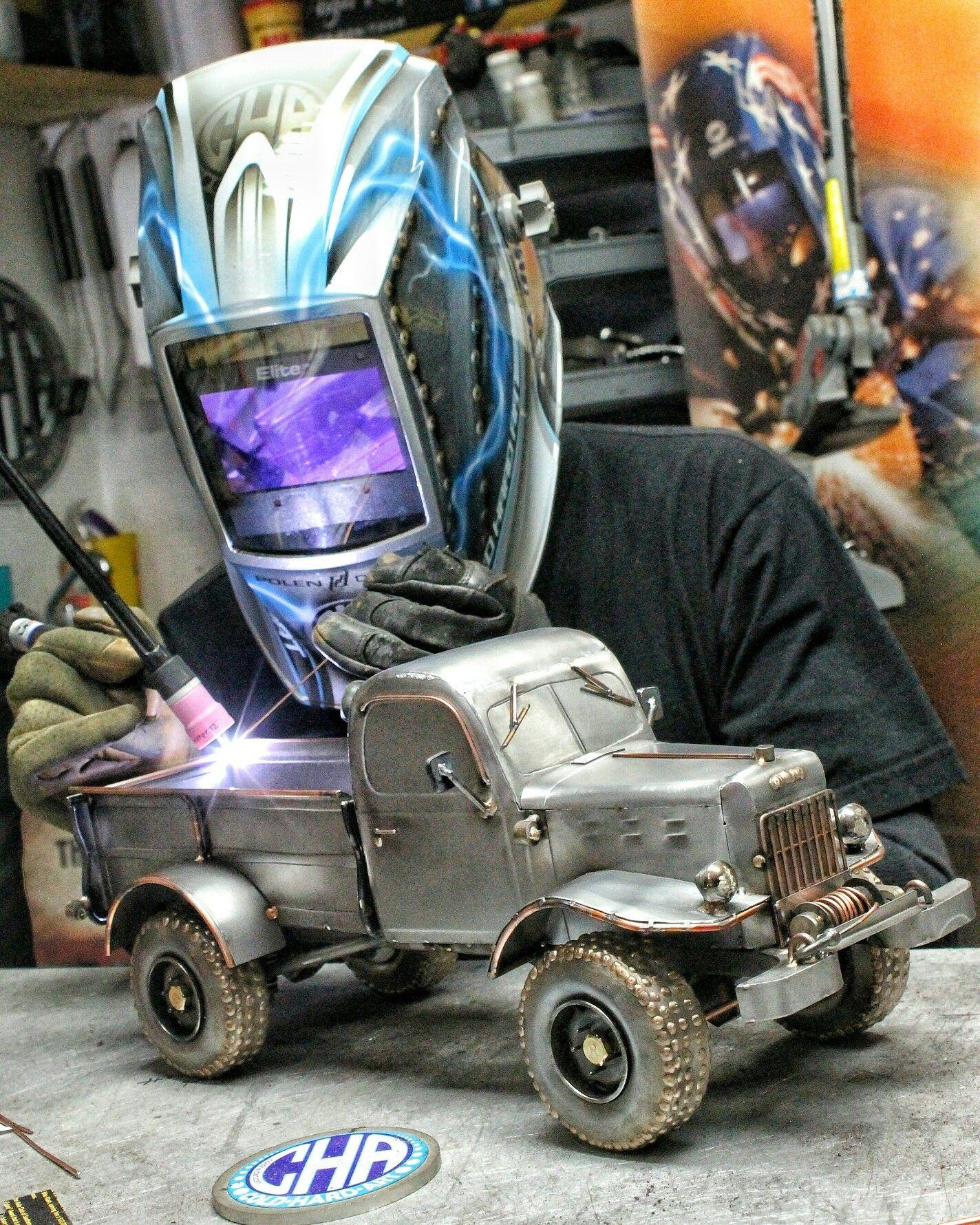 Dodge Power wagon metal art cold hard art welding truck | Home made ...