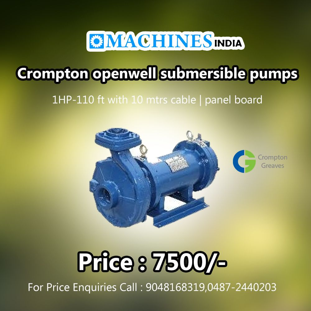 Crompton Openwell Submersible Pumps 1hp 110 Ft With 10 Mtrs Cable Panel Board Price 7500 For Price Enquir Water Pumps Well Pump