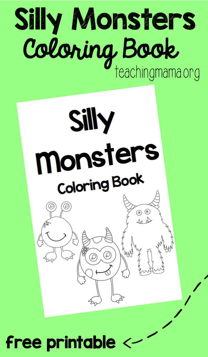 Silly Monsters Coloring Book {Free Printable} | Pre-K Coloring ...