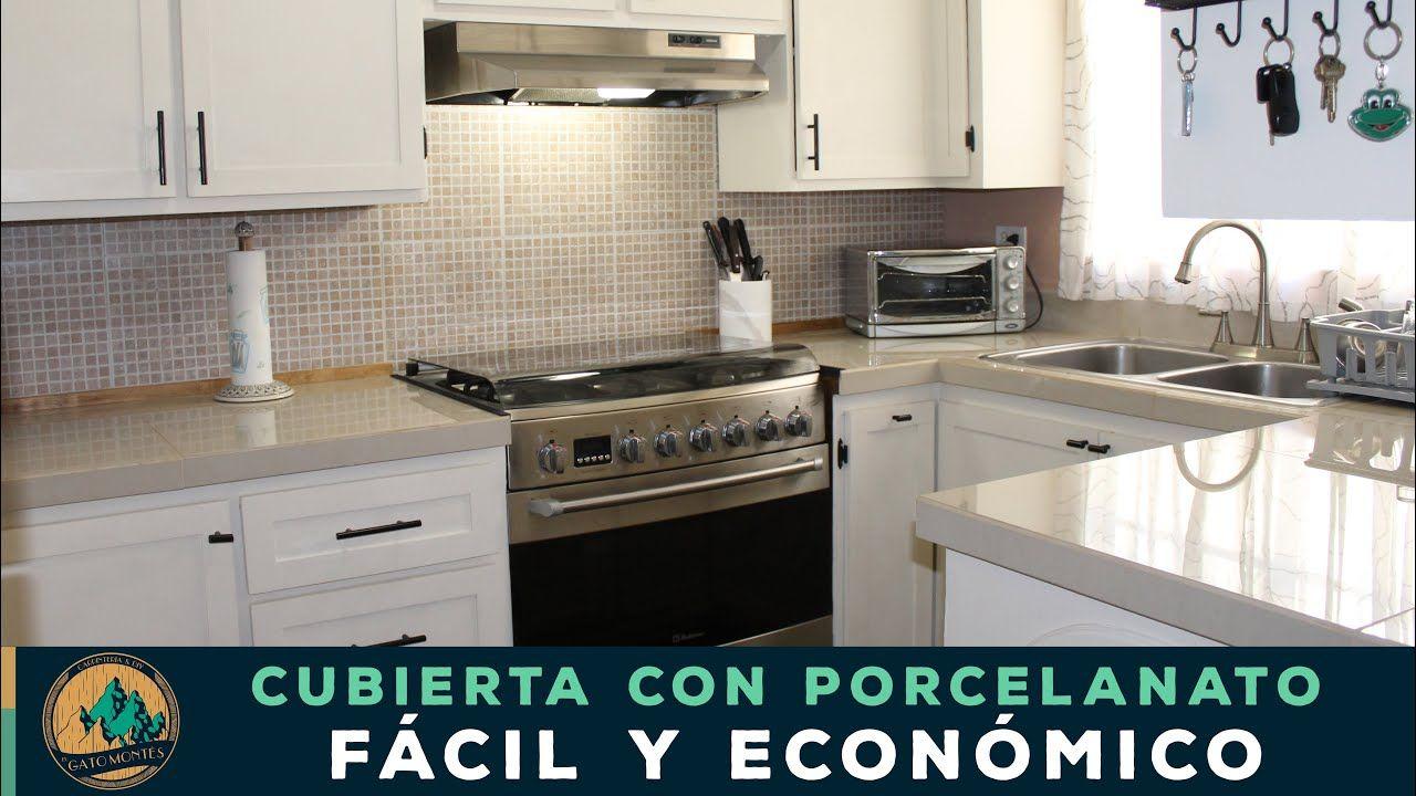 Cubierta De Cocina Con Porcelanato Facil Y Economico Cubiertas De Cocina Diseno De Cocina Muebles De Cocina