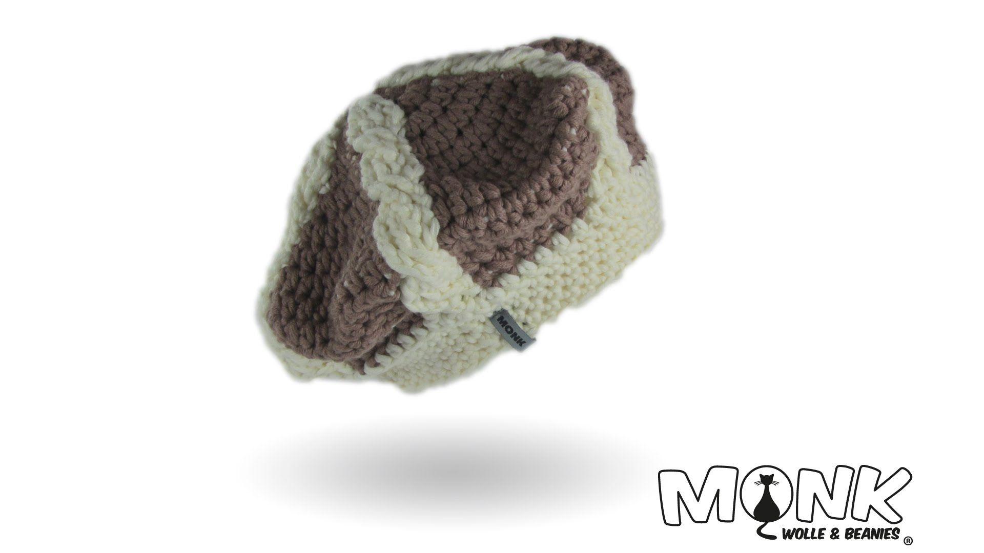 Mütze häkeln - Basken-Beanie mit Zopfmuster häkeln Teil 1 ...