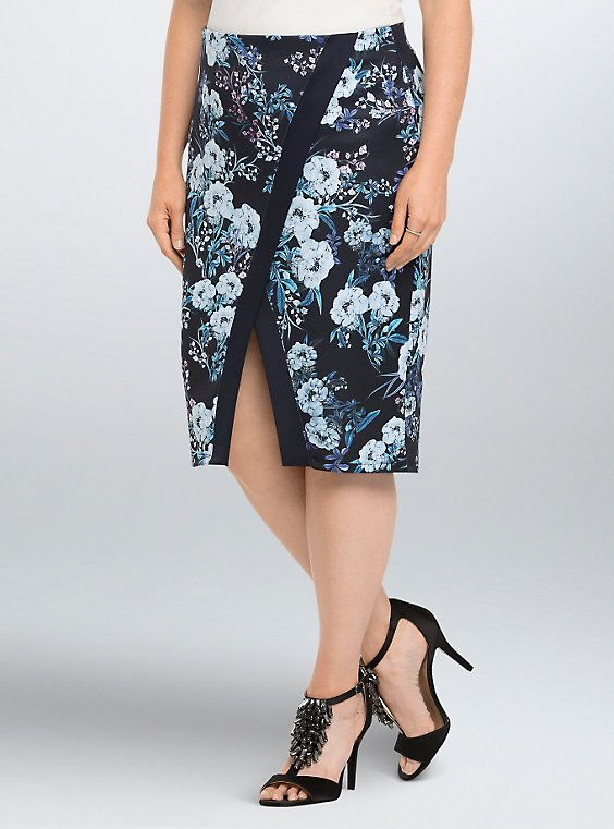 632f4acef20 5 chic ways to wear a plus size floral pencil skirt
