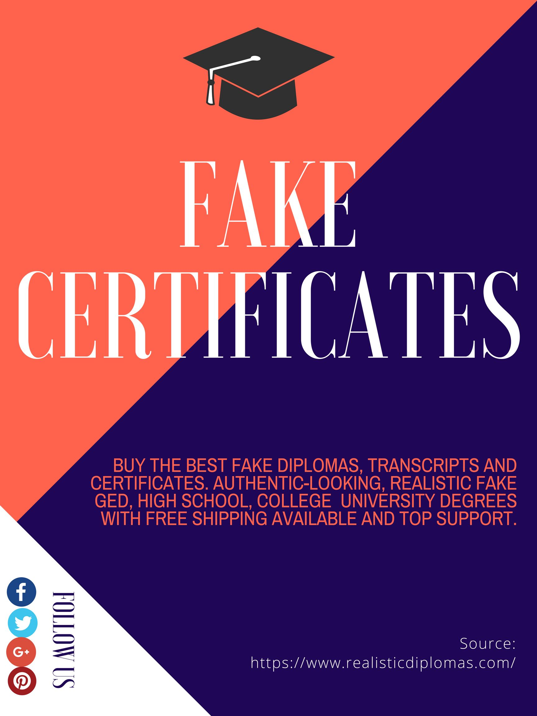 We Have A Huge Collection Of Authentic Looking Fake Certificates