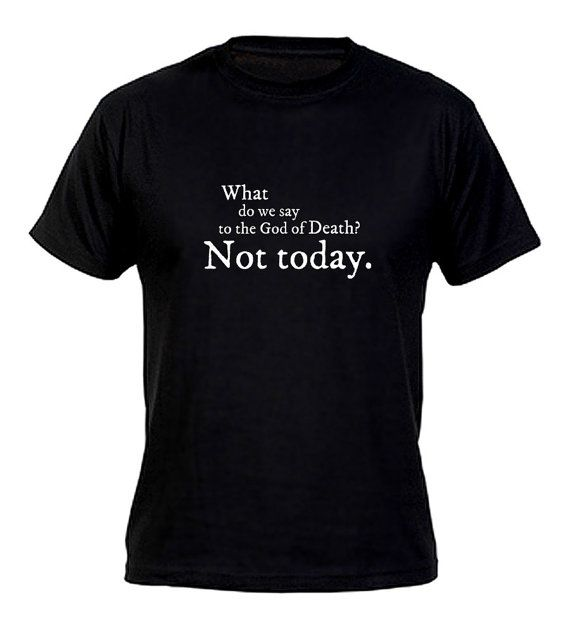 WOLF.TODAY. TSHIRT Arya Stark Game Of Thrones T-SHIRT TOP Inspired Not Today