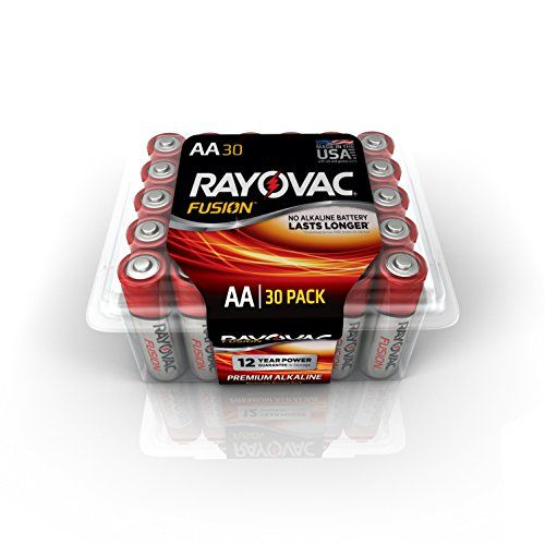 Rayovac Aa 30pack Fusion Advanced Alkaline Batteries 81530ppfus Click Image For More Details Alkaline Battery 30 Pack Alkaline