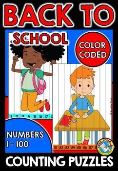 BACK TO SCHOOL COUNTING PUZZLES: NUMBERS 1 TO 100 #backtoschool #mathcenter