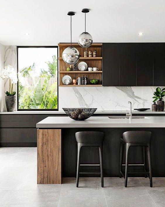 "modern black and white kitchen interior fabulous design | Trinity Interior Design on Instagram: ""This kitchen by ..."