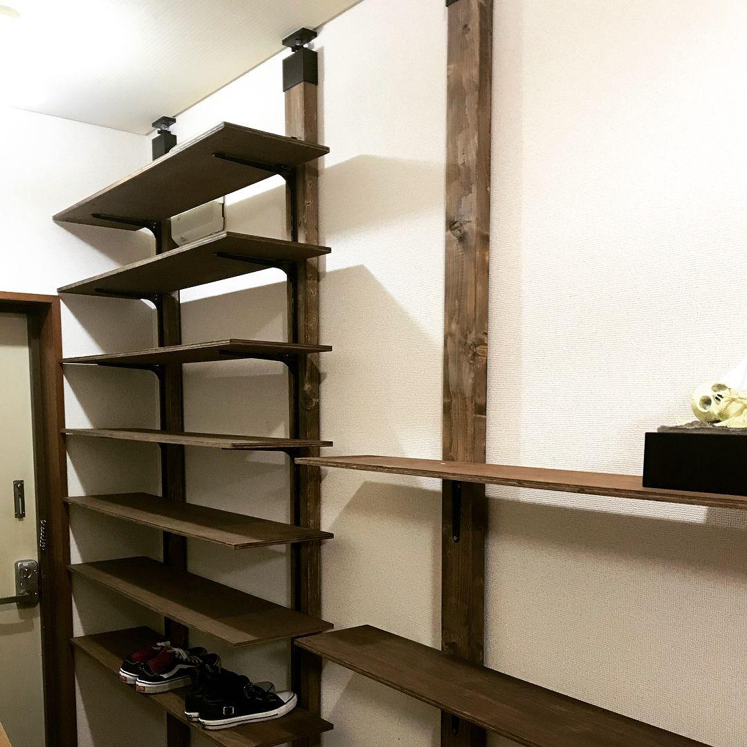 ツーバイフォー材による天井と床のつっぱり柱3種類を徹底解説 Diyを