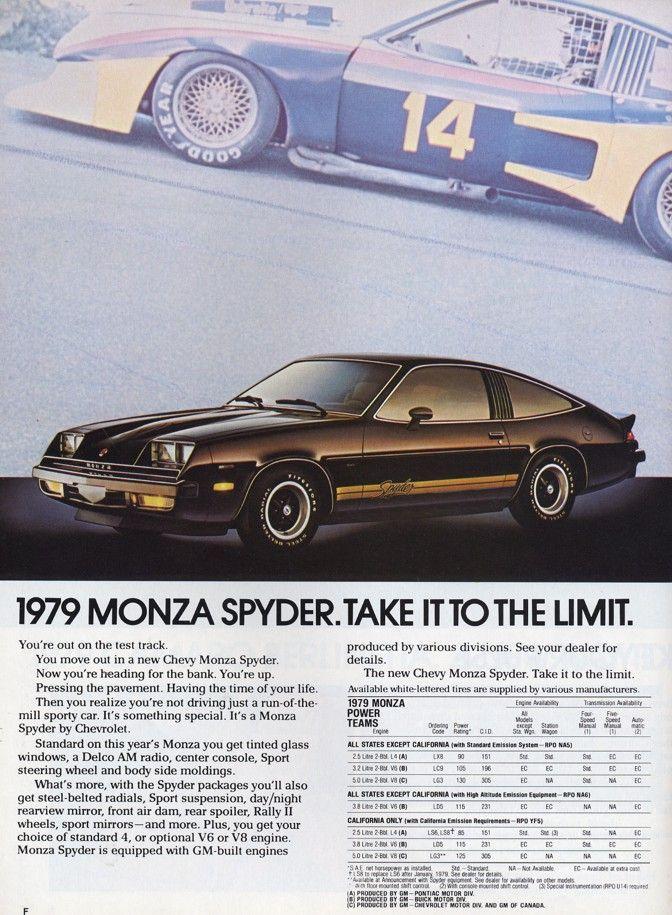 Chevrolet Monza Vintage Car Ads Chevrolet Monza Chevrolet Monza