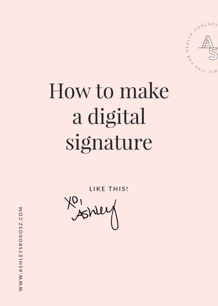 How to make a digital signature for your website a...