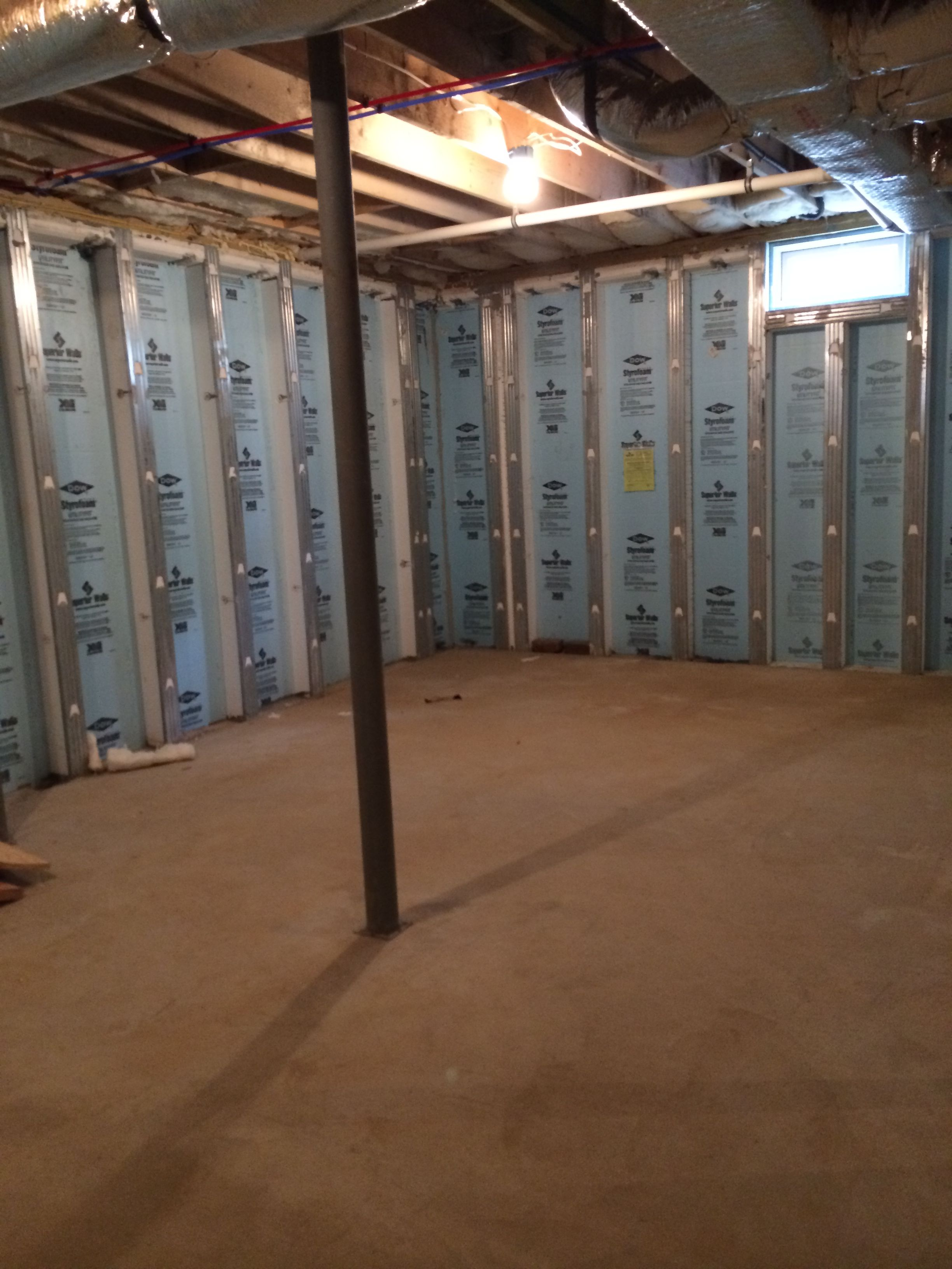 With Smaller Windows On Top Of The Walls The Basement Is In The