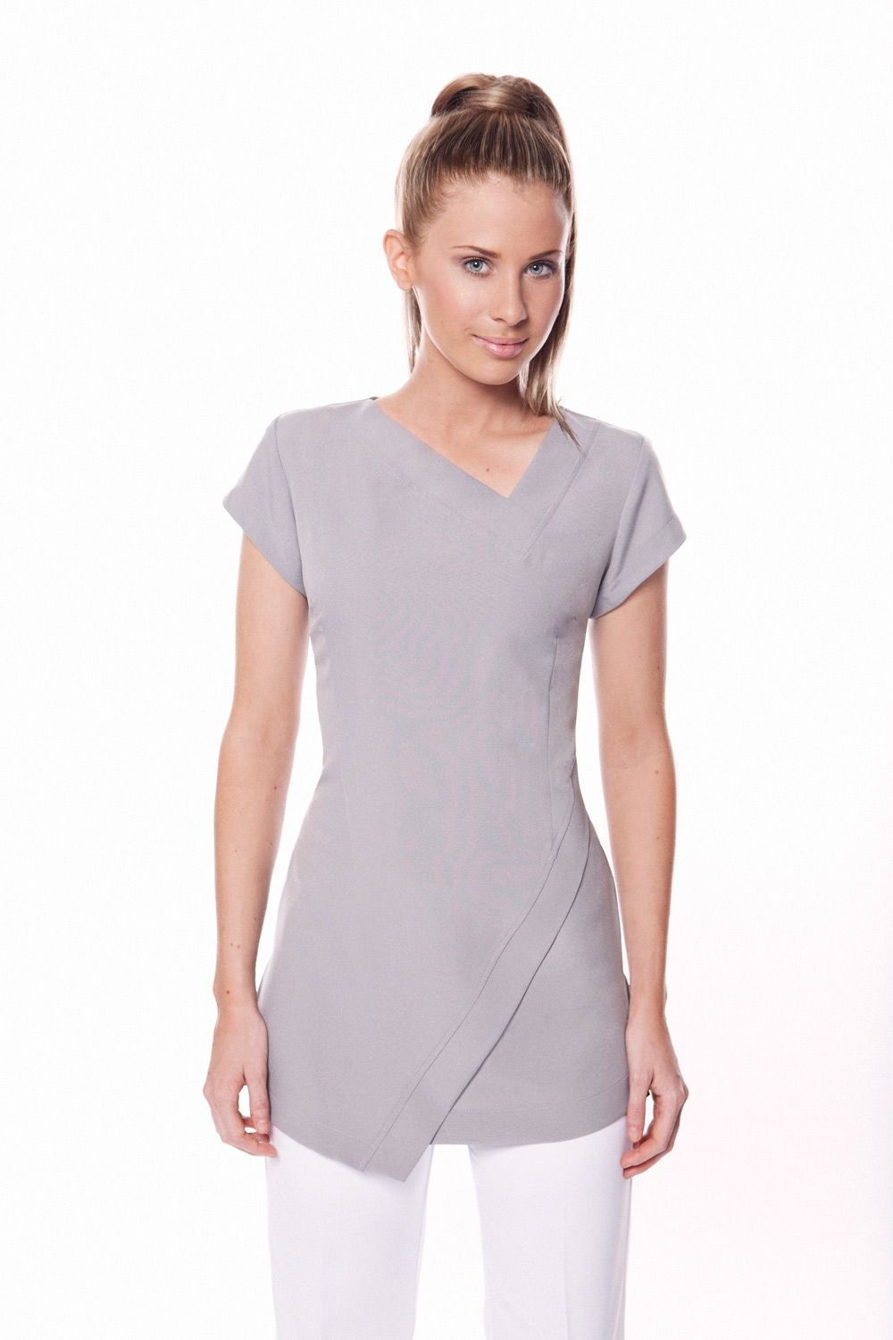 f9f8228b1864c SPA 14 Tunic Work Uniform | Krystle Skin | Spa uniform, Salon ...