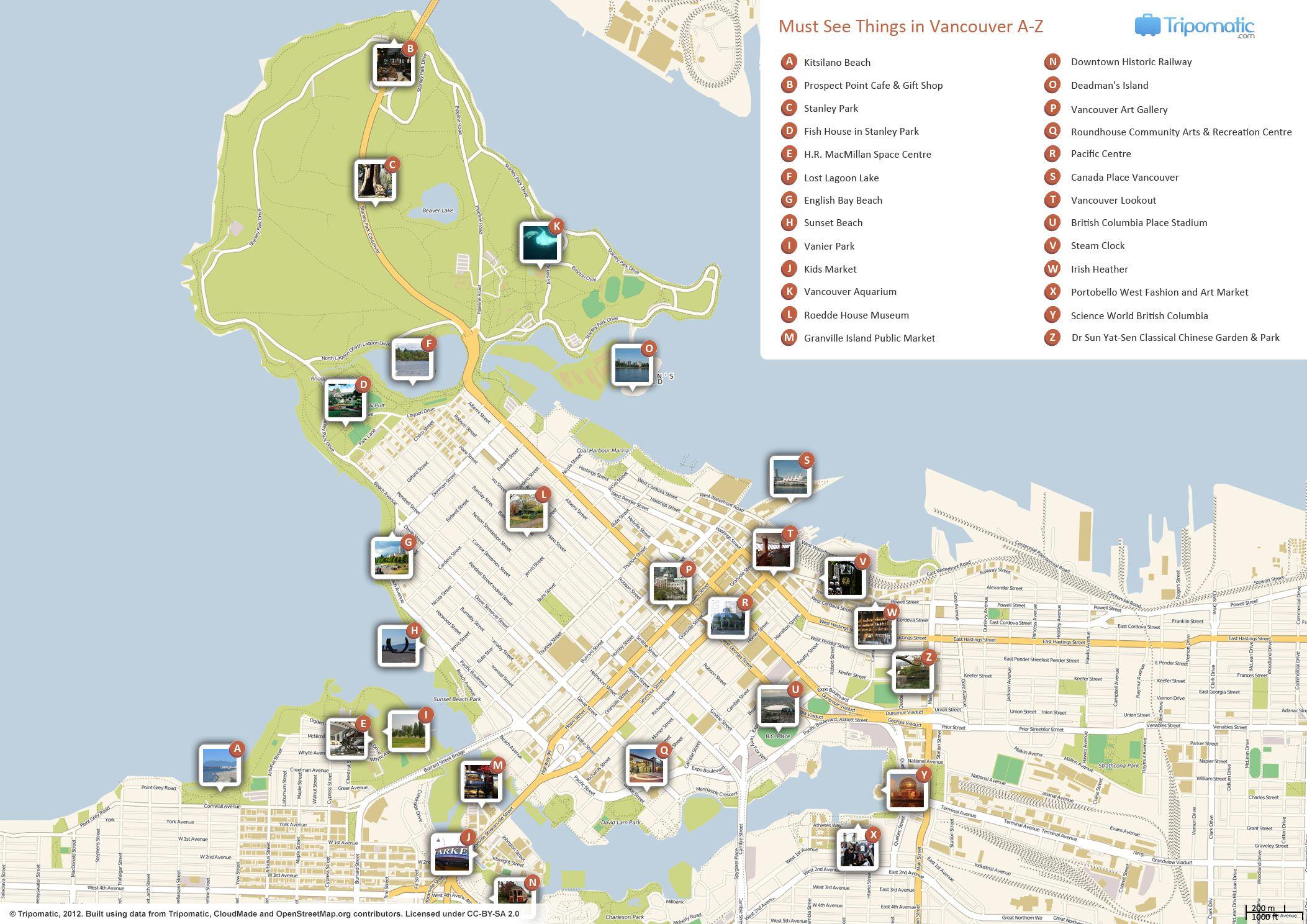 Denver Printable Tourist Map Tourist map Denver and United states
