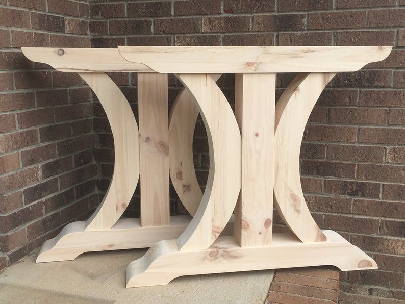 Crescent trestle table legs free shipping set of two