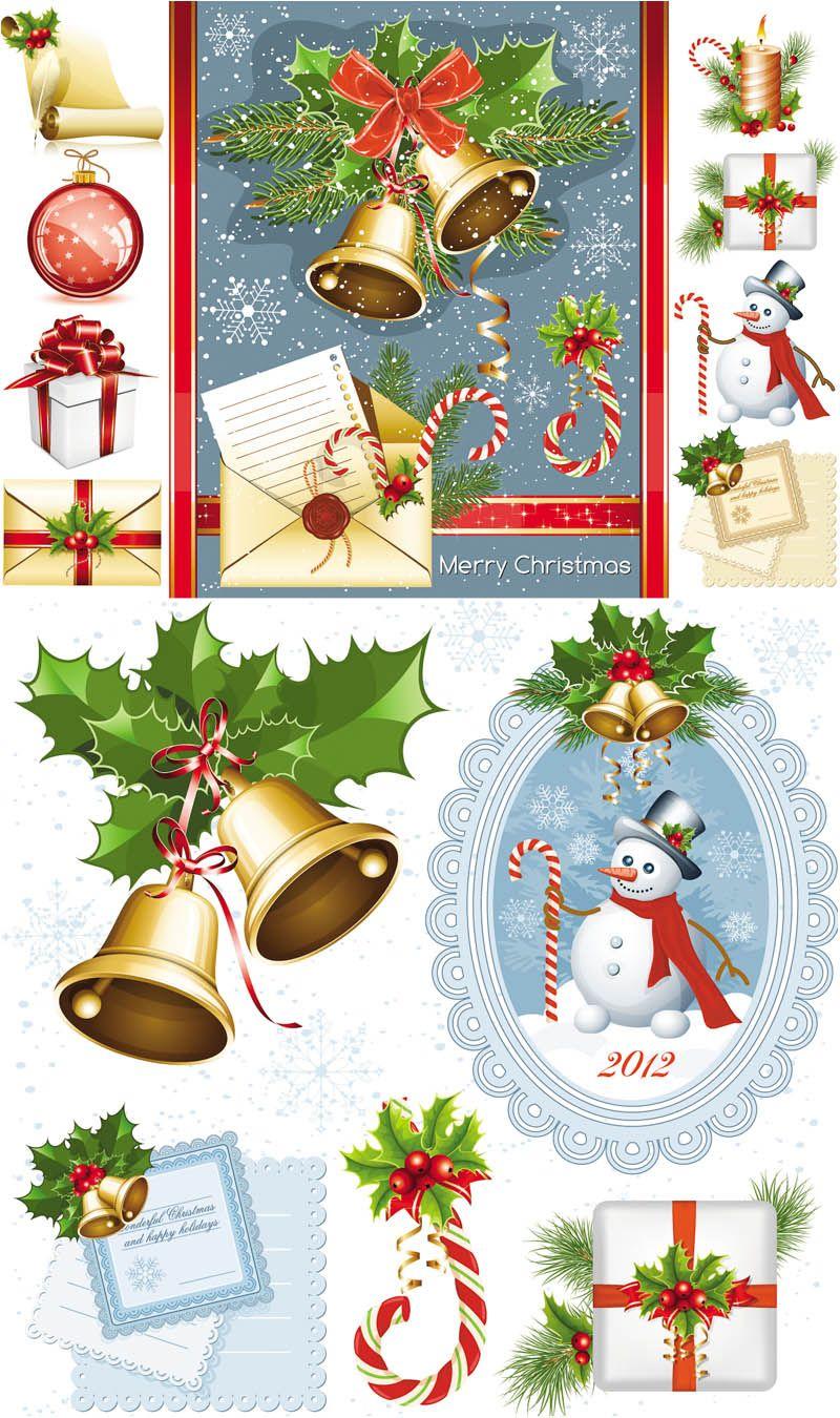 Design set for #Christmas decorations #vector | новый год ...