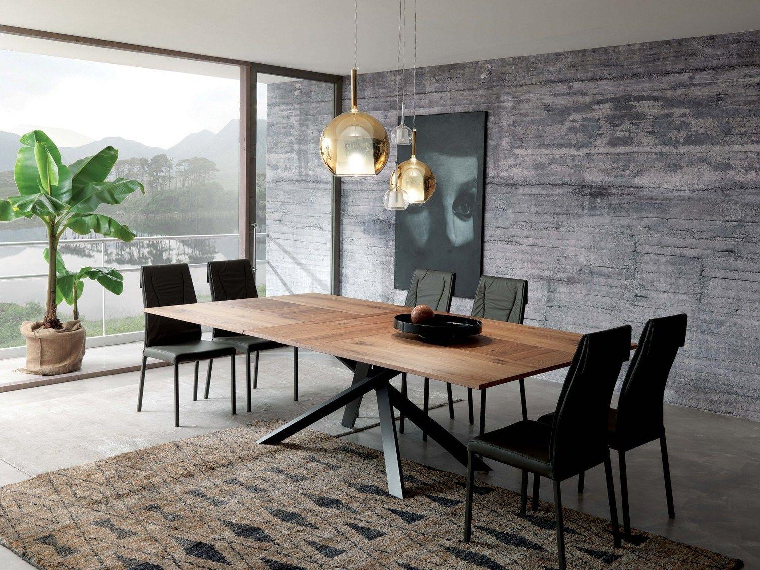 Ozzio Design Italia.Extending Rectangular Wooden Table 4x4 By Ozzio Italia