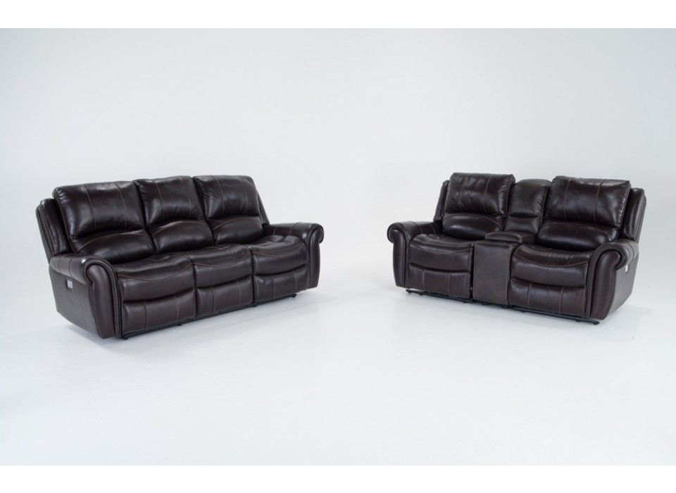 Incredible Bennett Leather Power Reclining Sofa Console Loveseat Ibusinesslaw Wood Chair Design Ideas Ibusinesslaworg