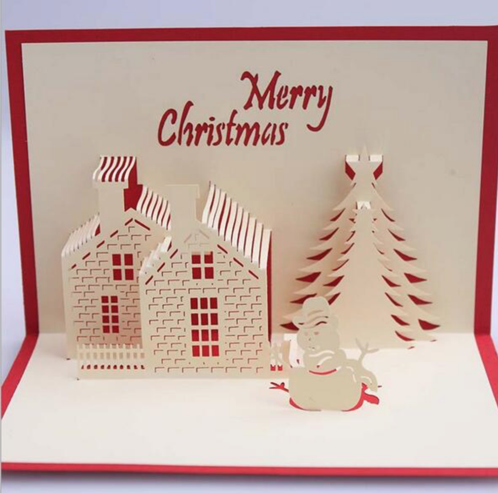Luxury Handmade Pop Up Christmas Greeting Card Xmas Pinterest