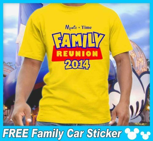 Disney Family Reunion T Shirts Yellow
