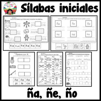 Letra ñ Silabas ña ñe ño Abc Spanish Worksheets