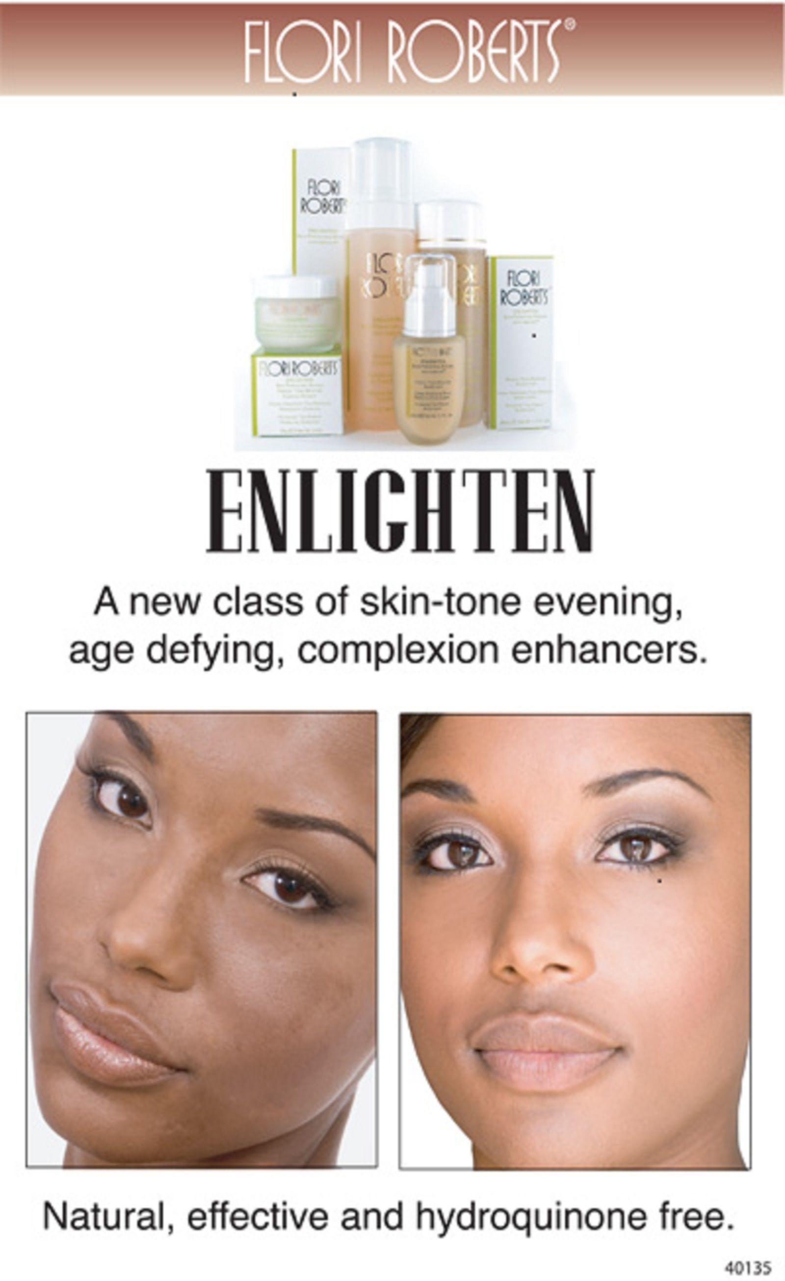 Flori Roberts Enlighten Skincare system. Voor een effen