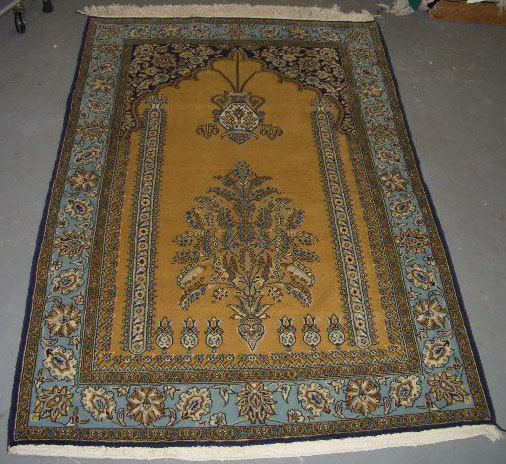 1970s HandKnotted Qum Persian Rug by carpetshopprincess on Etsy, $895.00