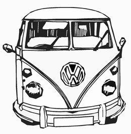 cars transport vw camper front view combi pinterest tableau coloriage et mod le. Black Bedroom Furniture Sets. Home Design Ideas