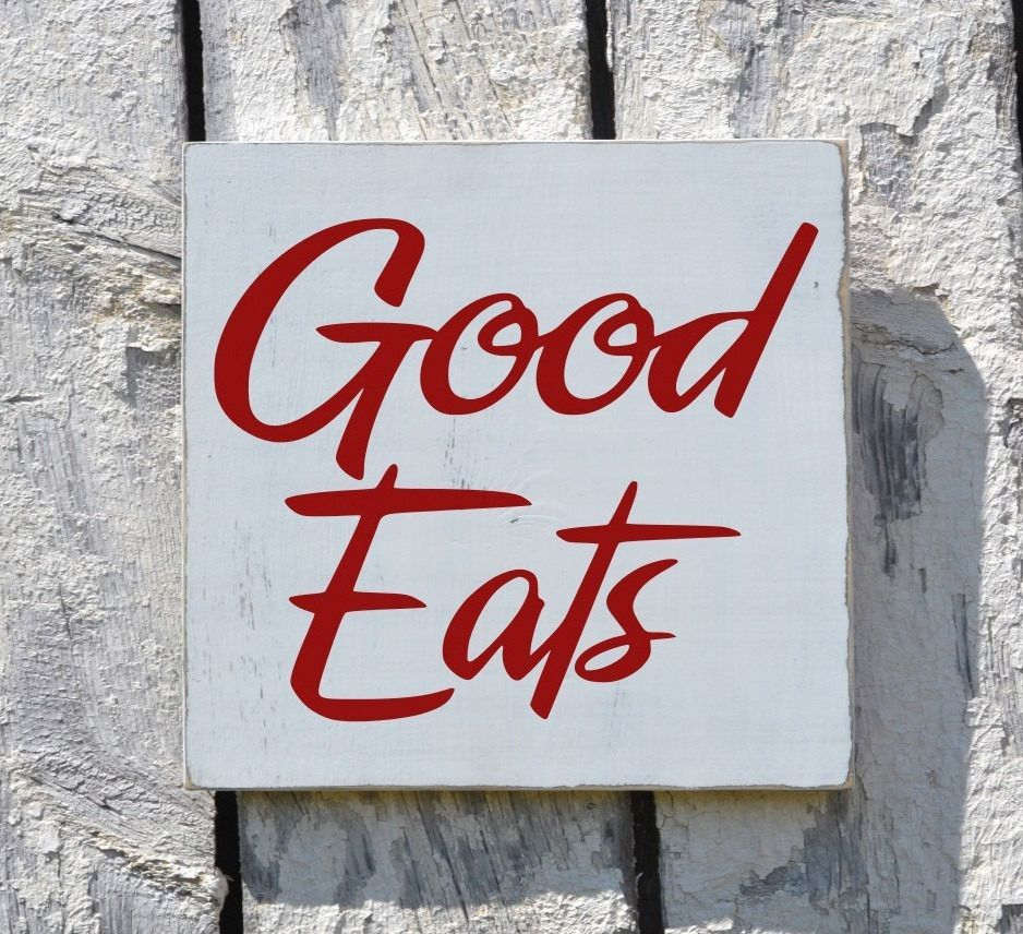 Wall Decor Signs Fascinating Kitchen Sign Wall Art Decor Good Eats Red Rustic Reclaimed Signs Design Ideas