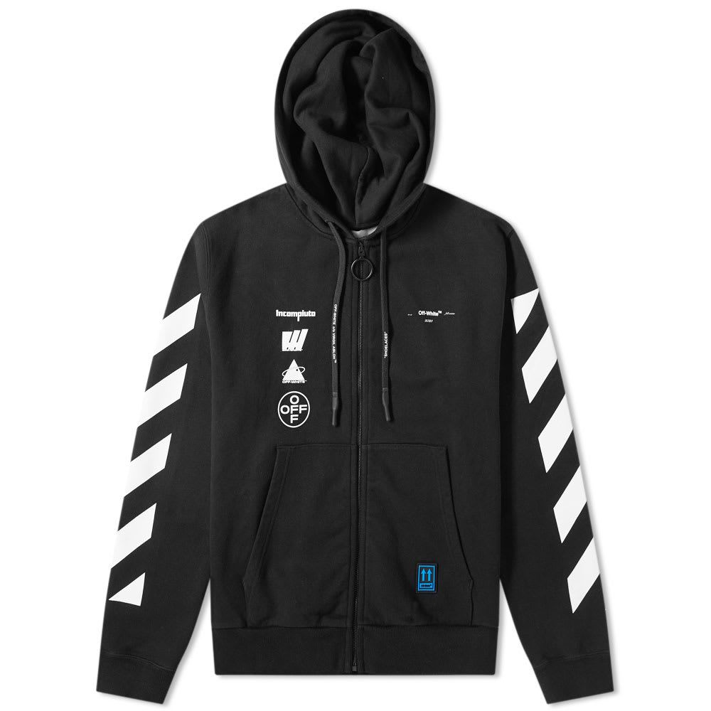 Off White Off White Mariana De Silvea Painting Zip Hoody Off White Cloth [ 1000 x 1000 Pixel ]