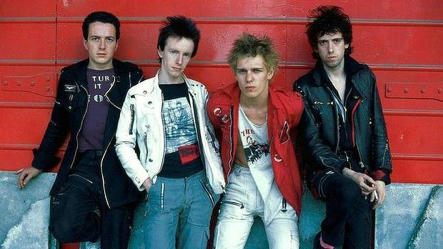 Late 70s To Early 80s Punk Rockers The Clash From Left