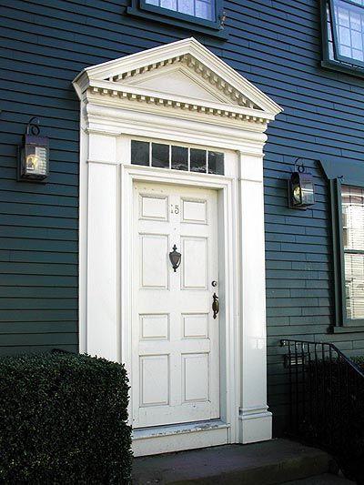 Newport Rhode Island Georgian Colonial Pedimented