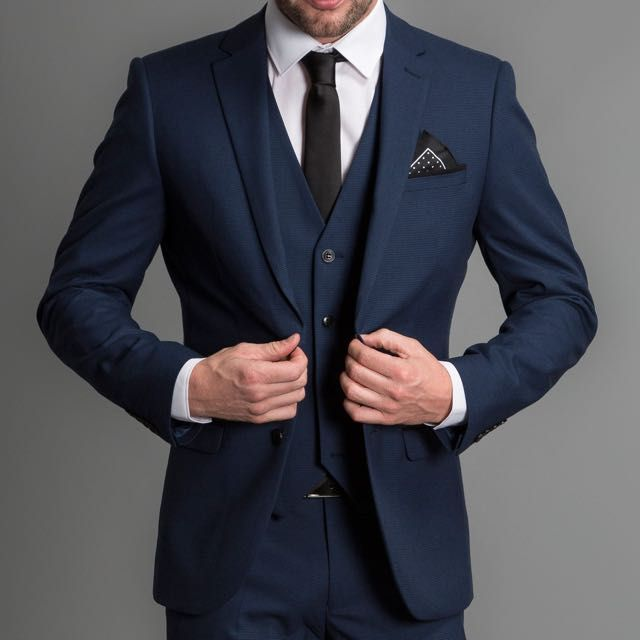 The Men's suit style the model is wearing is Formal Contemporary ...