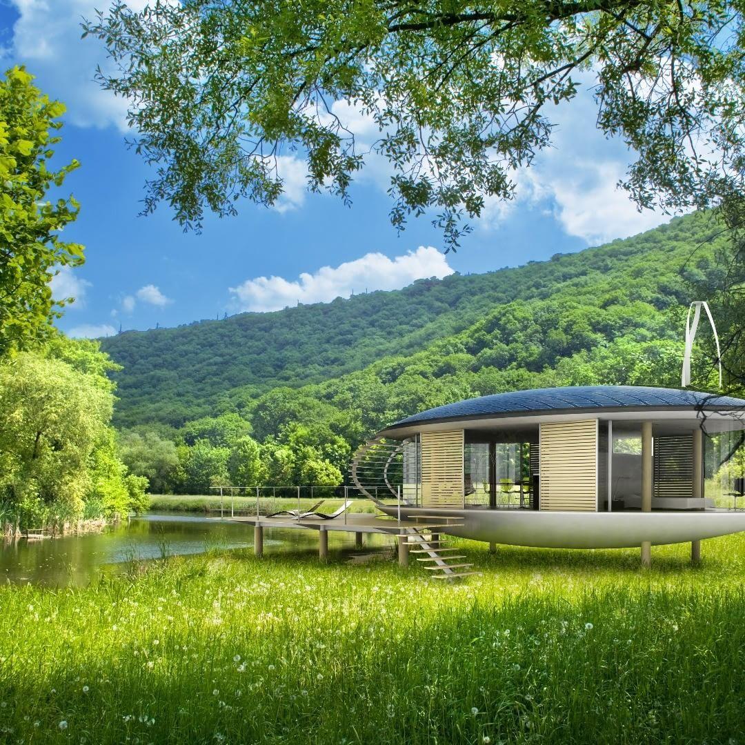 Ozento La Maison Ecologique Habitat Du Futur Projet Maison Ville Moderne Eco Construction Maisons Contemporaine Maison Ecologique Habitat Maison Design