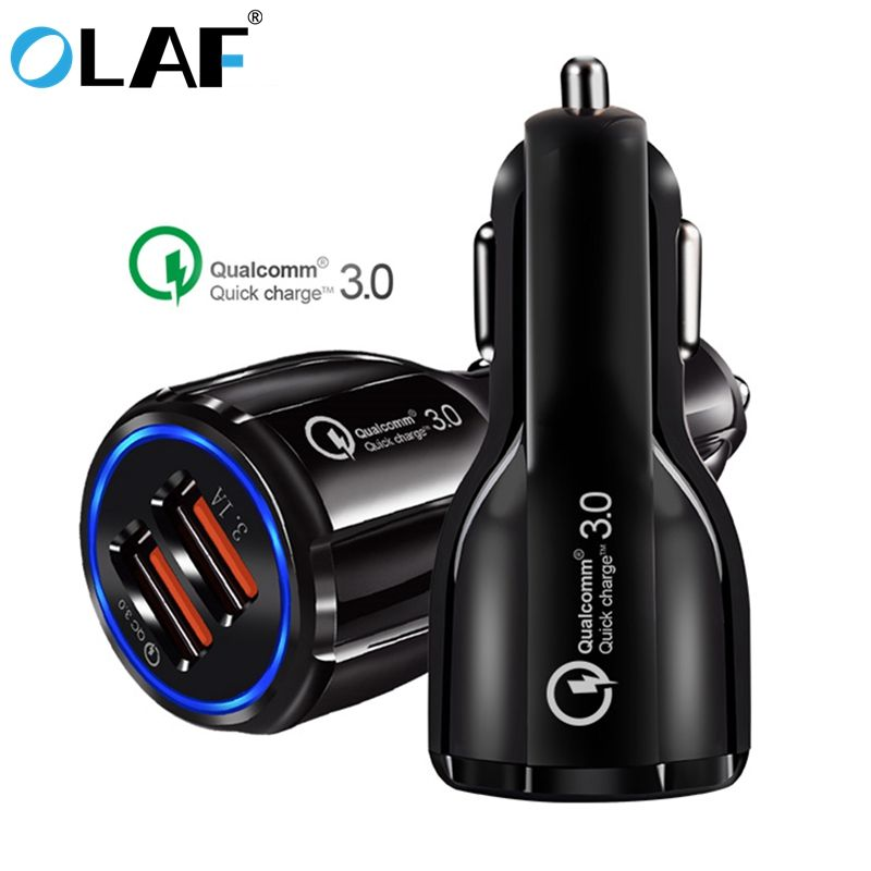 Olaf Car Usb Charger Quick Charge 3 0 2 0 Mobile Phone Charger 2 Port Usb Fast Car Charger For Iphone Samsung Tablet Car Ch Car Usb Charger Car T Mobile Phones