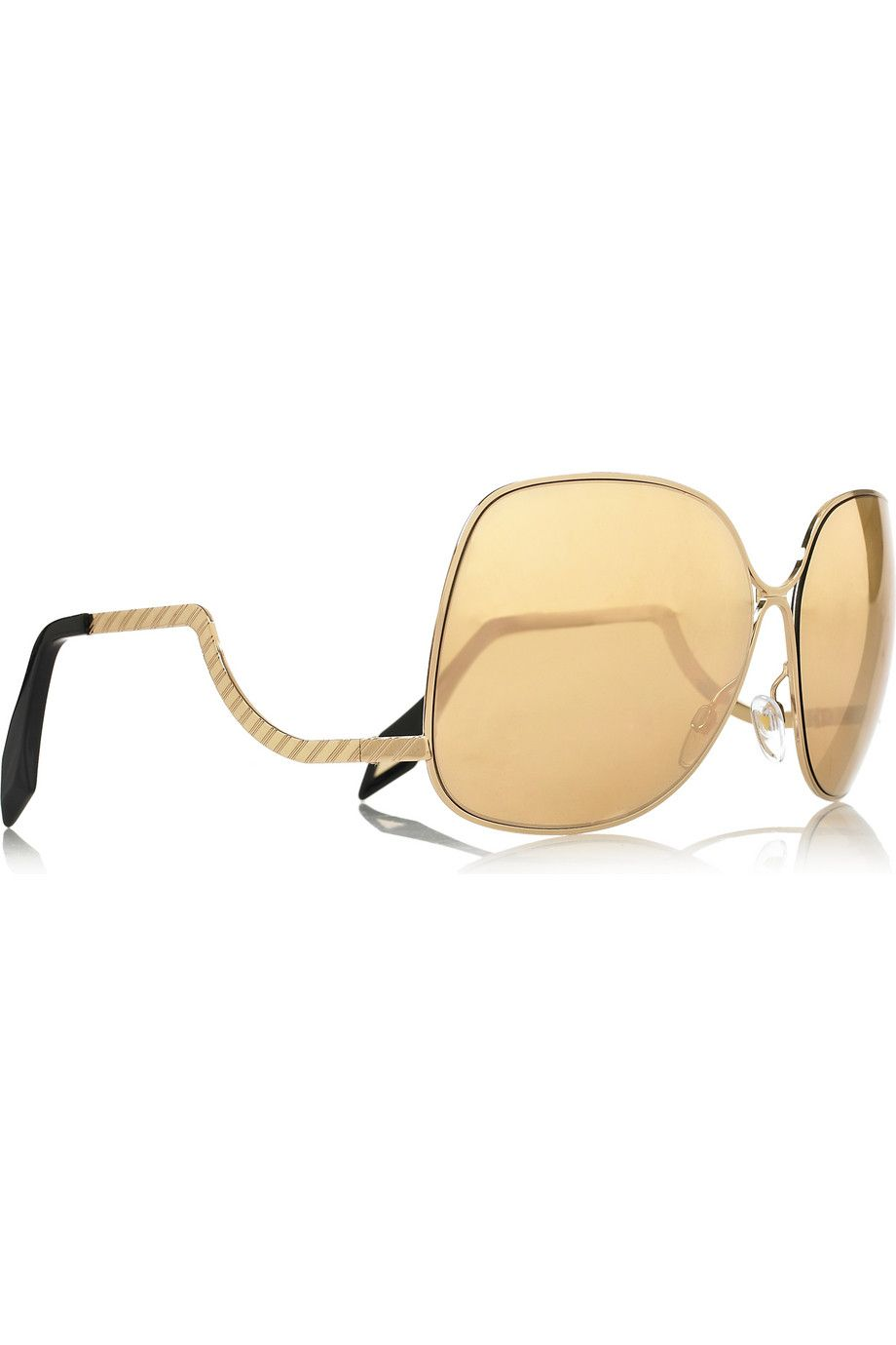 ffea9452fec0 Victoria Beckham. VICTORIA BECKHAM Gold Sunglasses ...