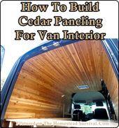 Photo of The Homestead Survival   How To Build Cedar Paneling For Van Interior   Homestea…