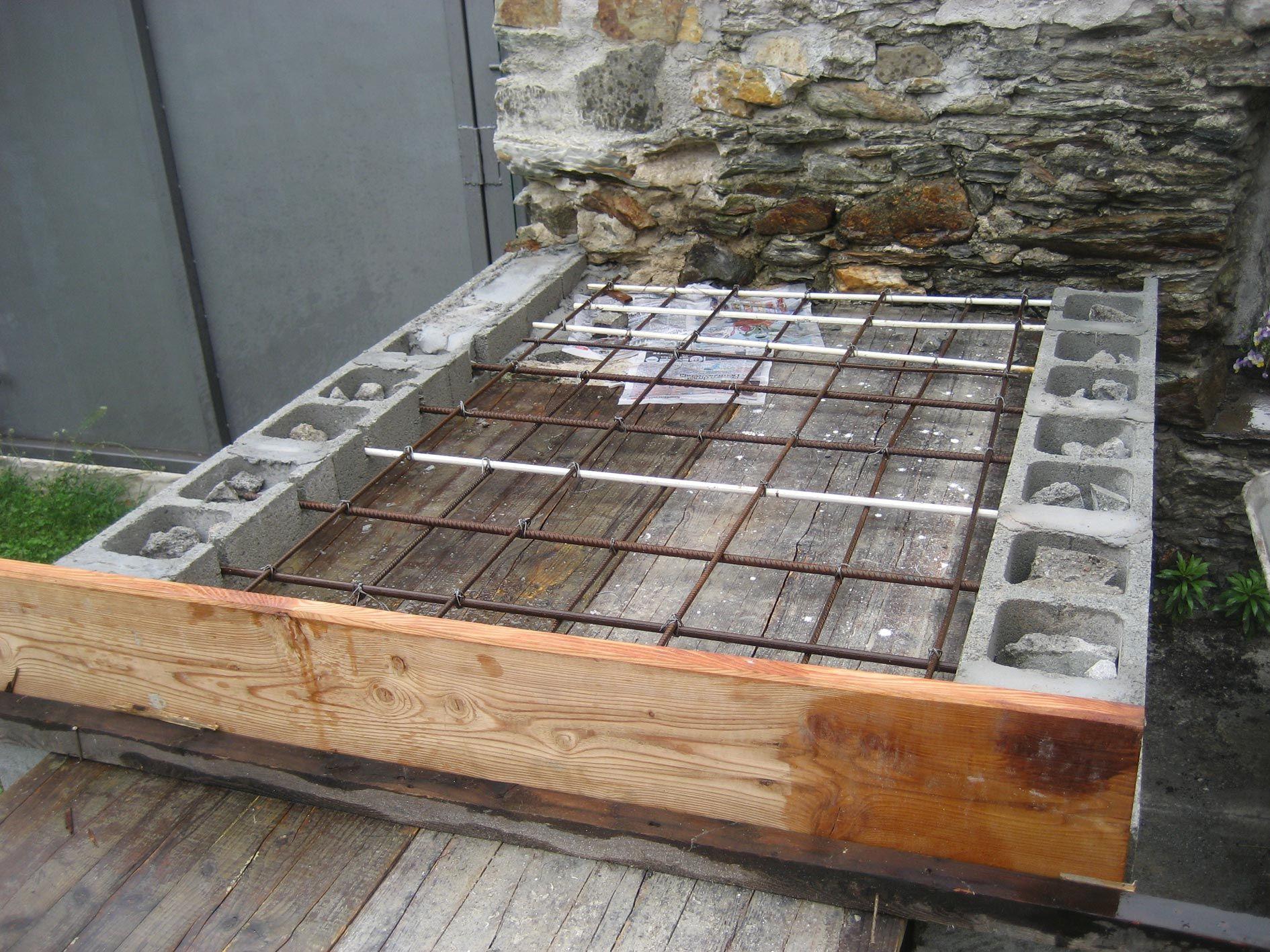 Costruire Un Camino In Casa forno in mattoni refrattari a base rettangolare (costruzione