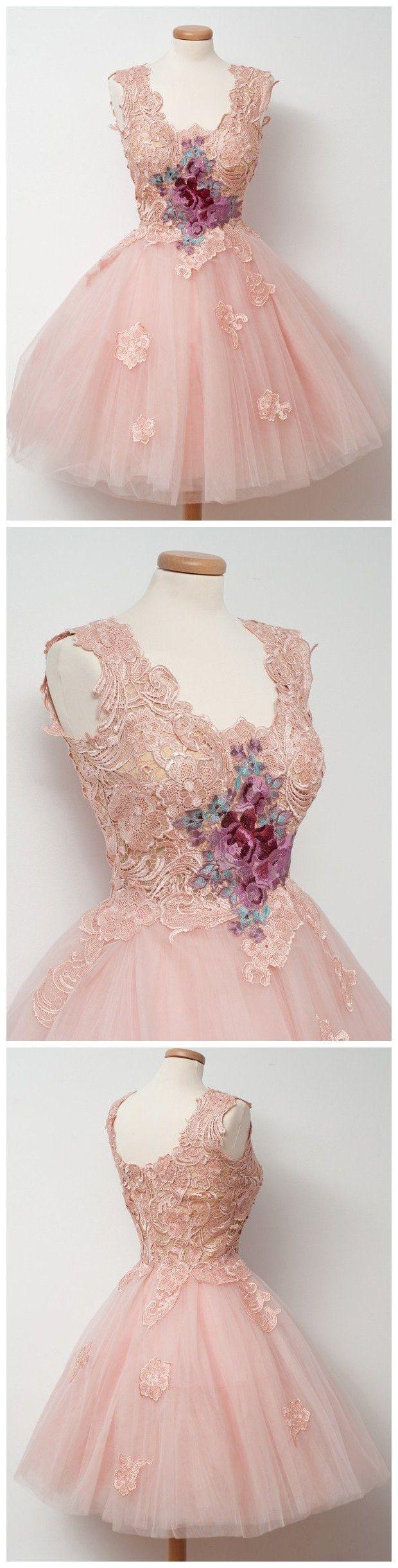 aline scoop short tulle prom drsess homecoming dress kmy