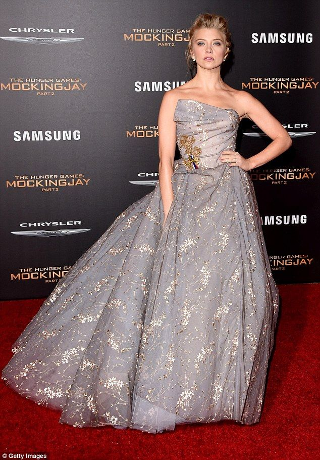 Natalie Dormer wows in silver gown at Hunger Games LA premiere ...