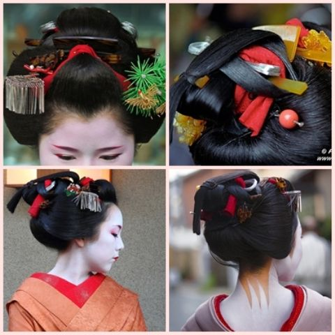 Geisha Coiffures Japonaises Coiffures Chinoises Coiffure